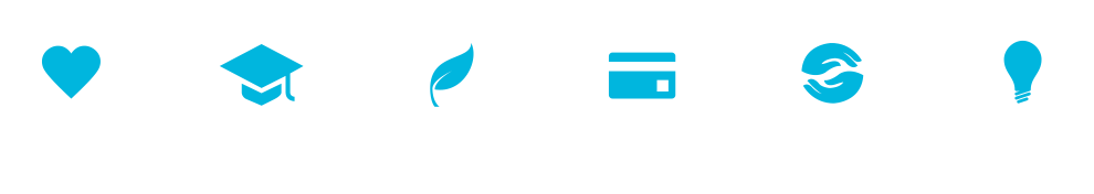 We focus in sectors including health, education, environment, economy, fair trade, and arts